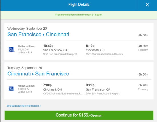 Rental Cars At Cvg The Flight Deal | United – $156: San Francisco – Cincinnati, Ohio ...