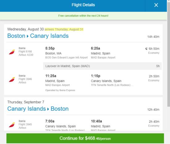 The Flight Deal | Iberia – $469: Boston – Tenerife