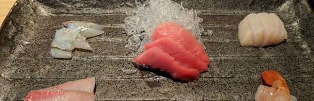Sashimi at Ushiwakamaru, NYC. Photo: © The Flight Deal