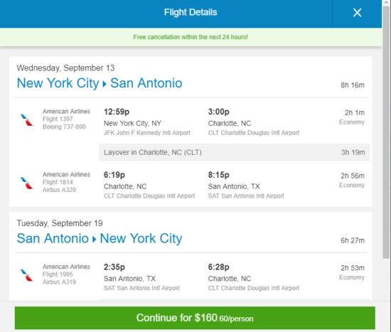 The Flight Deal American 161 New York San Antonio