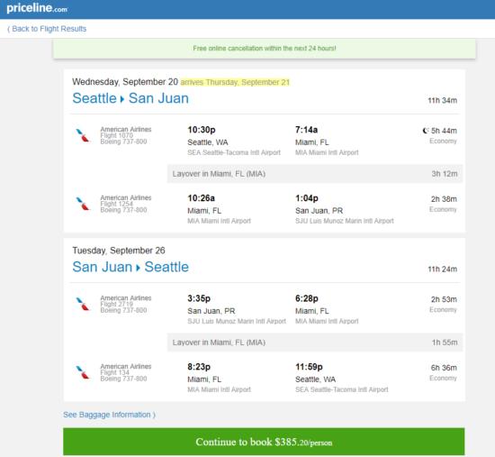 The Flight Deal American 385 Seattle San Juan