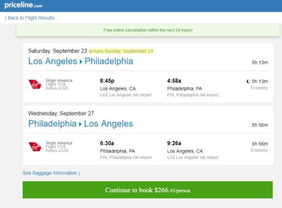 The Flight Deal Virgin America 266 Los Angeles