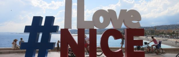 #ILoveNice Sculpture, Promenade des Anglais, Nice. - Photo: (c) 2017 - Jennifer Wong of From Mississippi with Love