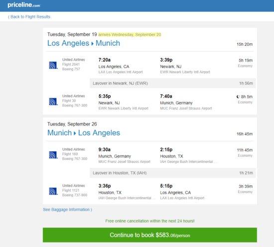 The Flight Deal United 583 Los Angeles San