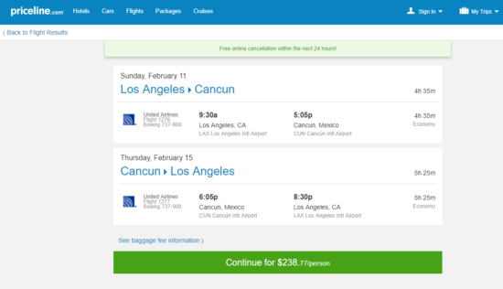 The Flight Deal United 239 Los Angeles Cancun