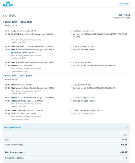 The Flight Deal | KLM Royal Dutch – $455: Dallas – Bilbao