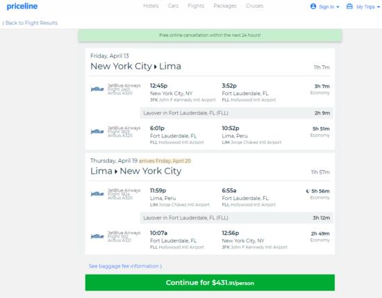 The Flight Deal Jetblue 432 New York Lima Peru