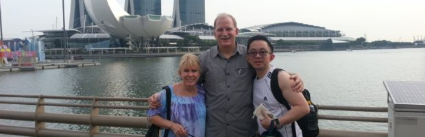 My wife, me and Andy Toh on Singapore's Esplanade - Photo: (c) 2018 - Jim Fatzinger, The Travel Organizer