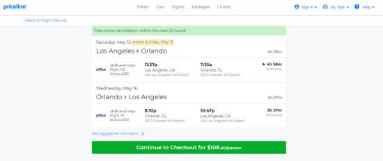 The Flight Deal Jetblue 109 Los Angeles Orlando