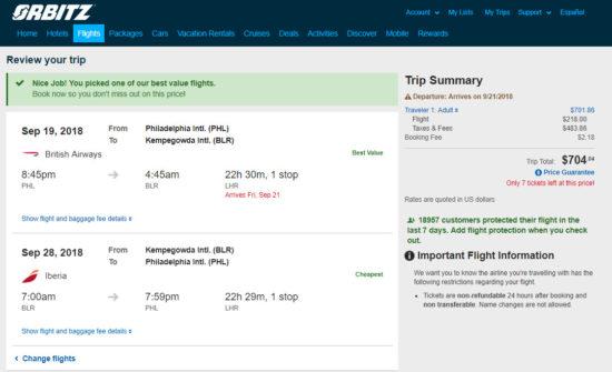 The Flight Deal British Airways Iberia 704