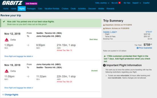 The Flight Deal Delta 759 Seattle Nairobi Kenya