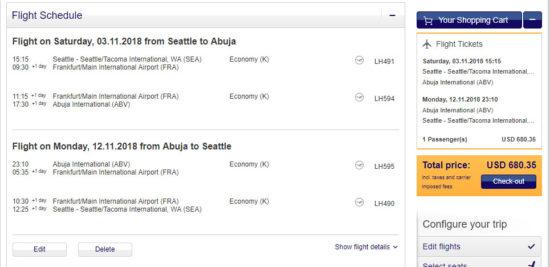The Flight Deal   Lufthansa – $680: Seattle / New York