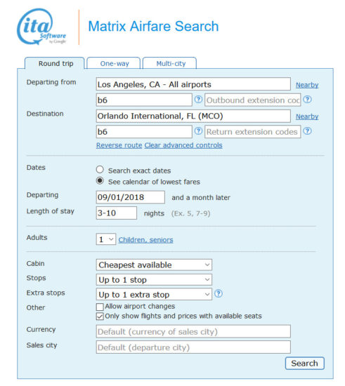 JetBlue – $186: Los Angeles – Orlando
