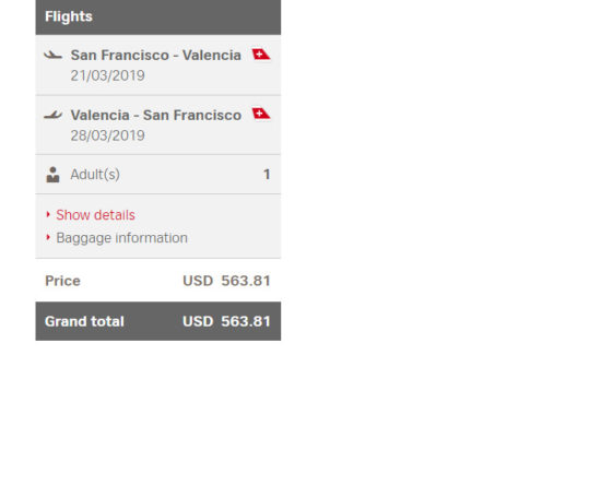 The Flight Deal | Swiss – $564 (Regular Economy) / $474