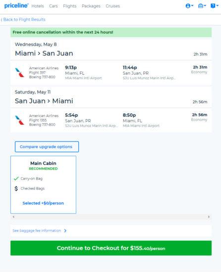 The Shorthaul – American – $155: Miami