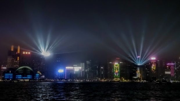 """A Symphony of Lights"" taken from the Tsim Sha Tsui promenade - Photo: (c) 2019 - Jim Fatzinger, The Travel Organizer"