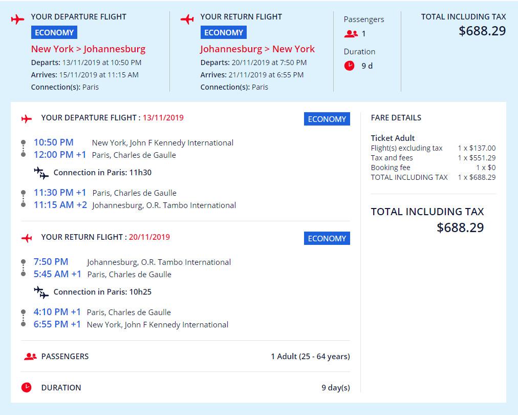 The Flight Deal | Air France – $688: New York – Johannesburg