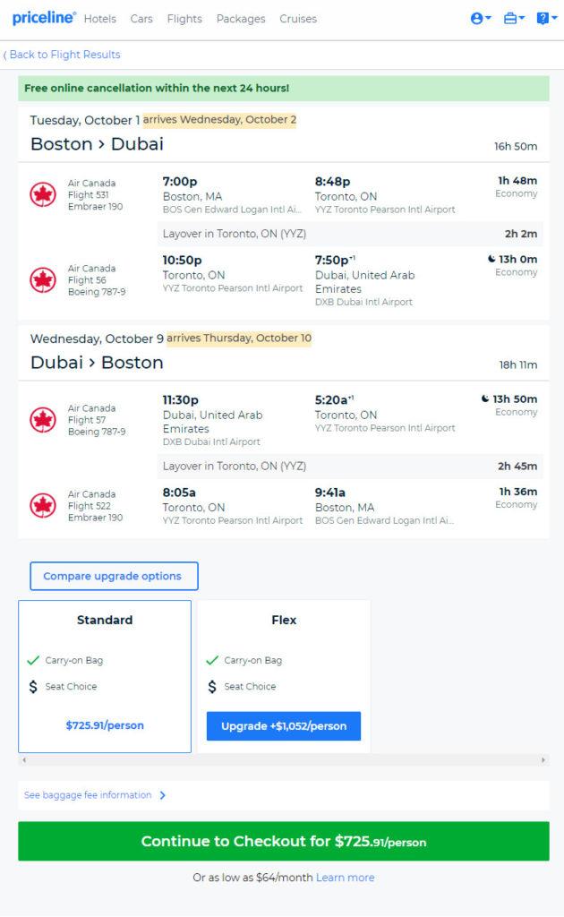 The Flight Deal | Air Canada – $726: Boston – Dubai, United