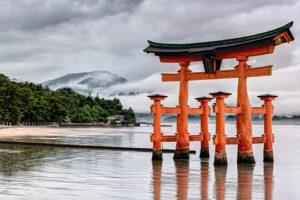 Itsukushima Shrine on Miyajima Island, just offshore from Hiroshima, Japan - Photo: Joe deSousa via Flickr, used under Creative Commons License (By 2.0)