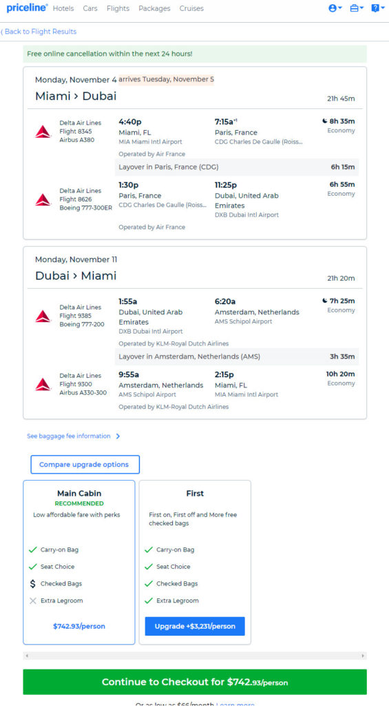 The Flight Deal | Delta – $743: Miami – Dubai, United Arab Emirates