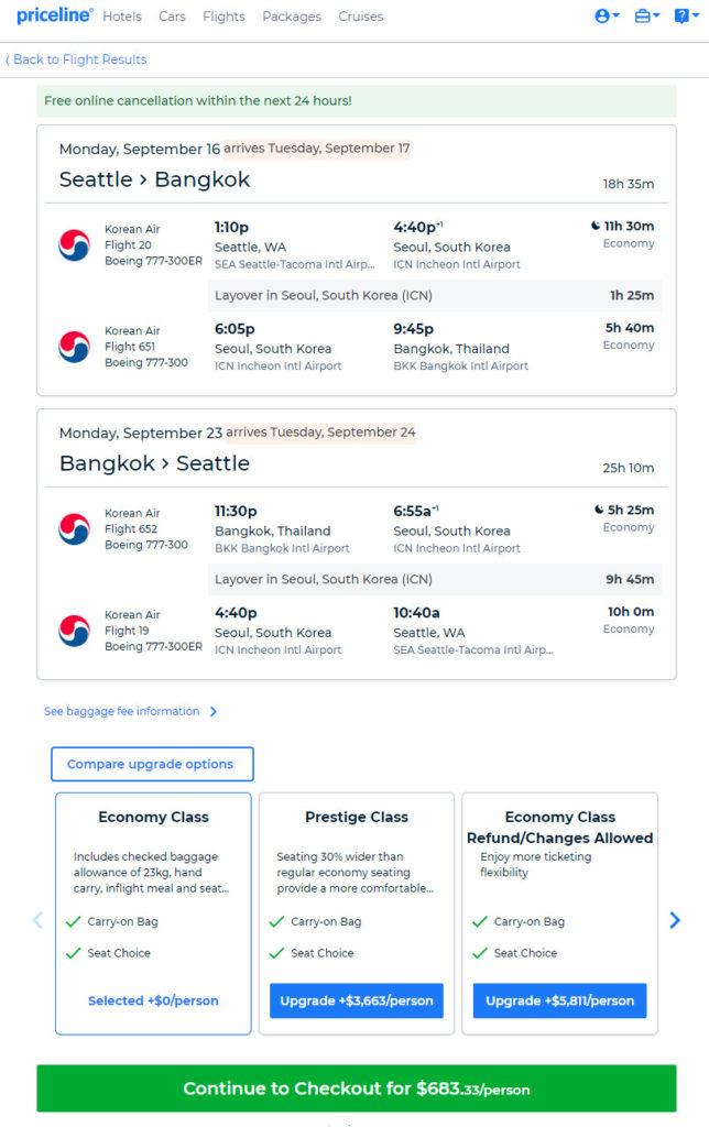 The Flight Deal   Korean Air – $683: Seattle – Bangkok