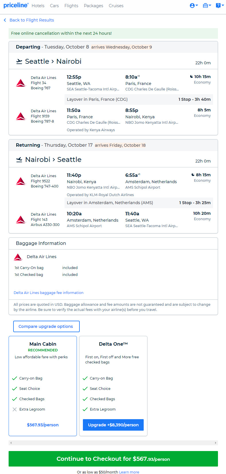 The Flight Deal | Delta – $568: Seattle – Nairobi, Kenya  Roundtrip