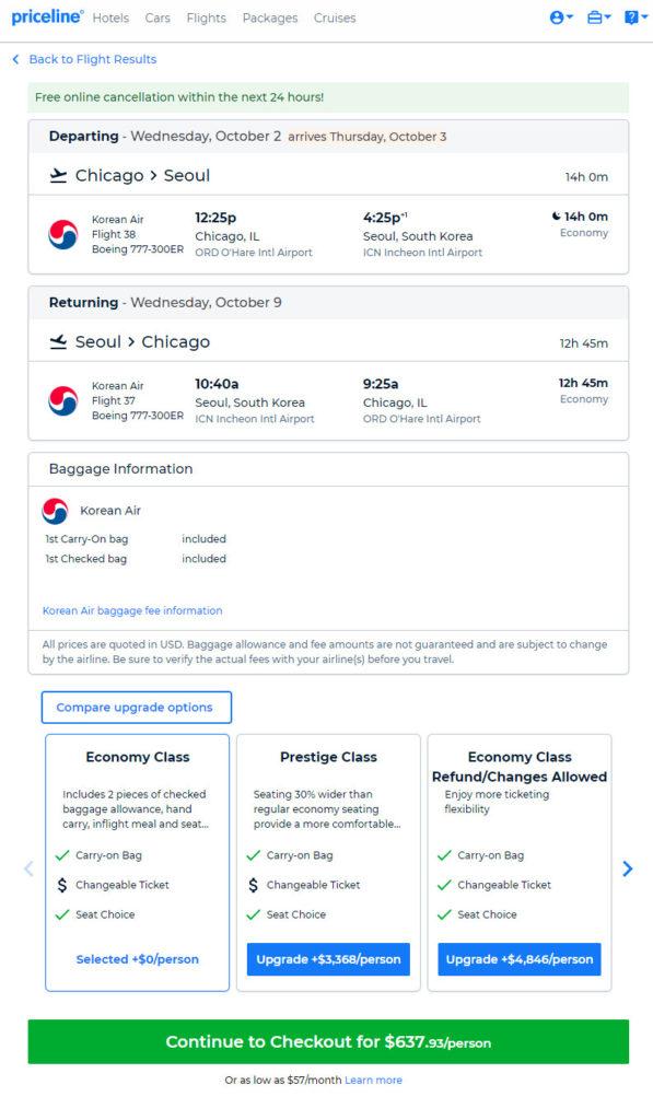 The Flight Deal | Korean Air – $638: Chicago- Seoul, South