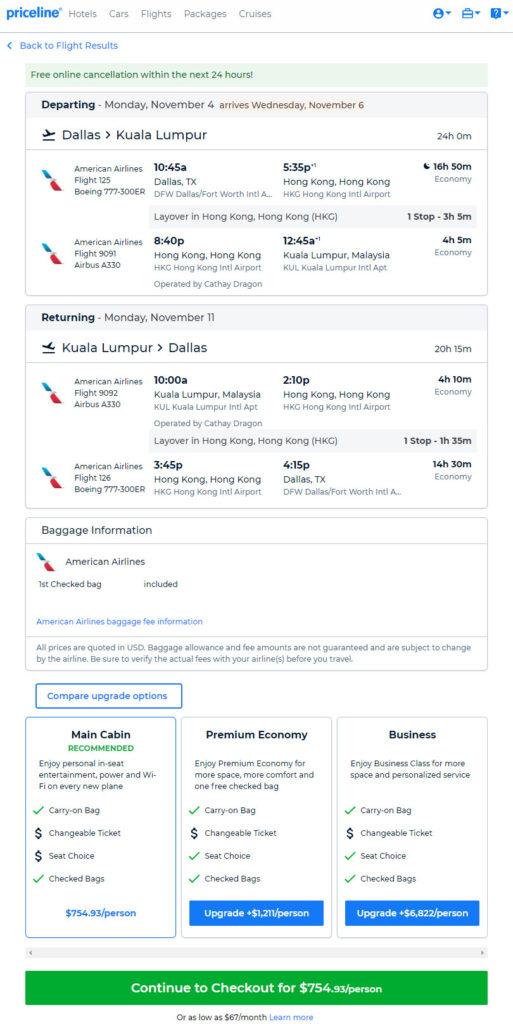 The Flight Deal | American – $755: Dallas – Kuala Lumpur