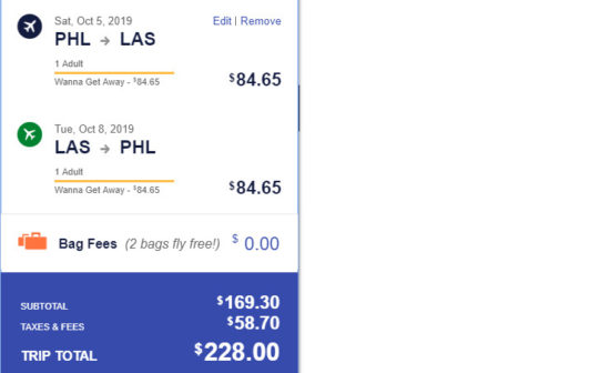 The Flight Deal | Southwest – $228: Philadelphia – Las Vegas