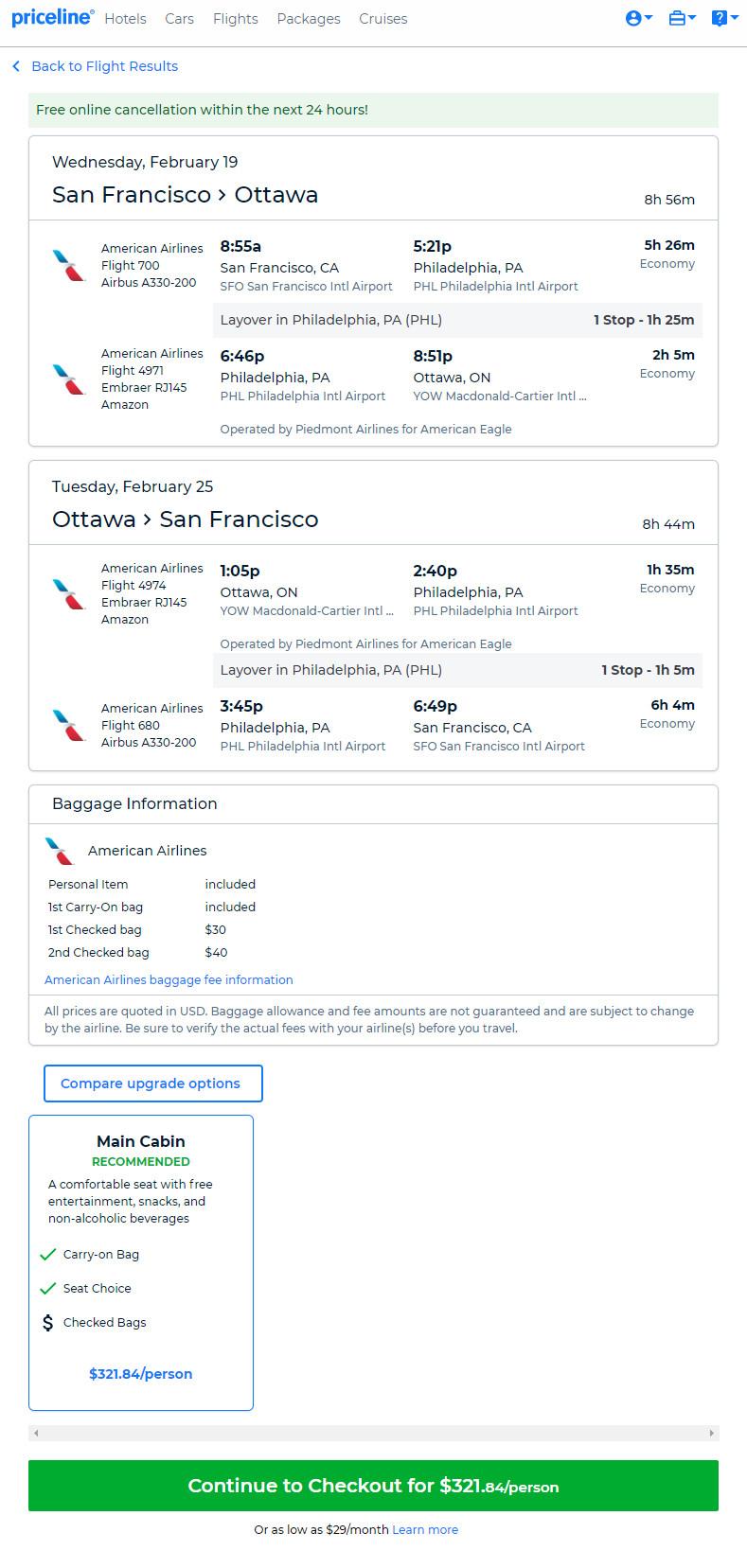 The Flight Deal | American – $322: San Francisco – Ottawa