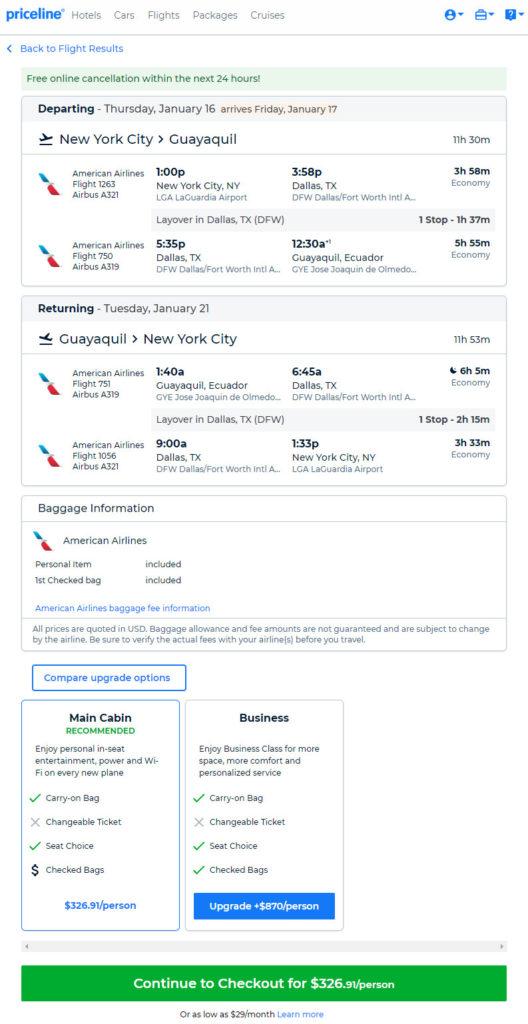 The Flight Deal American 327 New York Newark